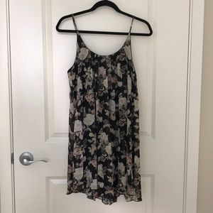 Sheer Floral Dress with Slip